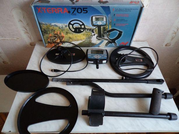 металлоискатель с двумя катушками Xterra 705 Dual Pack 18.75 и 7.5