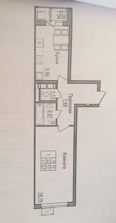 Продам 1 комнатную квартиру по Туран