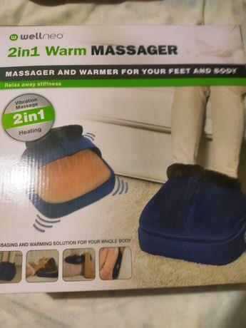 Массажный прибор 2 in 1 warm massager для ног