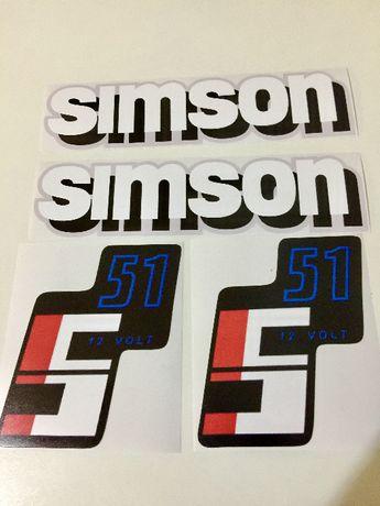 Лепенки(стикери) за Симсон, комплект !