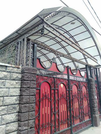 Изготовление навесов заборов ворота двери ангары склады решетки перила