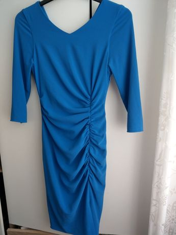 Stefania Caragea rochie albastra ocazie masura S