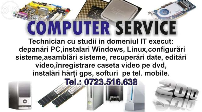 Service Pc- Laptop-Harti Gps