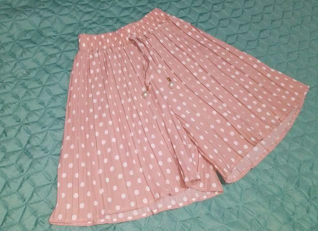 Fusta-pantalon roz pudra