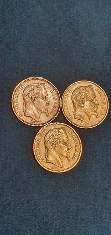Moneda,ban aur,20 francs,Napoleon,Leopold,Elvetia,SUPER OFERTA.
