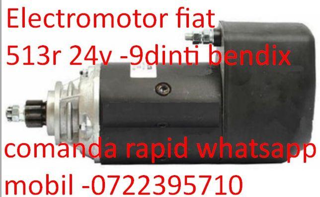 Electromotor pentru tractor fiat 513r 24v 9dinti bendix fixat in bride