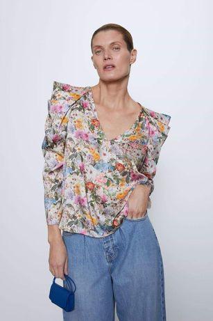 Bluza Zara inflorata