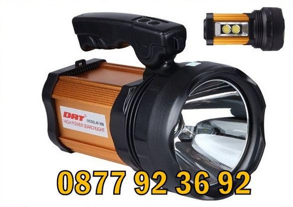 LED СУПЕР МОЩЕН прожектор, акумулаторен, водоустойчив, модел: АТ-398