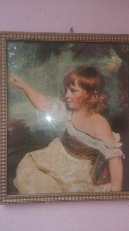 Tablou vechi pictura pe hârtie