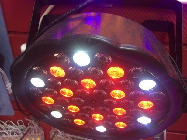 Светомузыка, прожекторы цветные, лэд светильник, подсветка для баннера