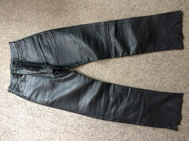 Pantaloni moto din piele ptr barbati 30