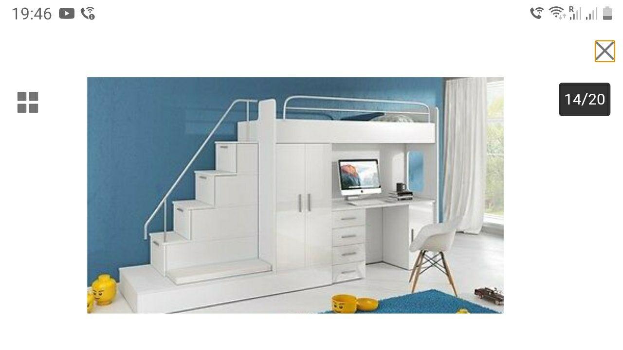 Pat etajat,pat parter,birou,dulap,PRET nou 950Euro