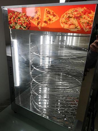 Топла Витрина за Пици Пица Въртяща с осветление чисто нова