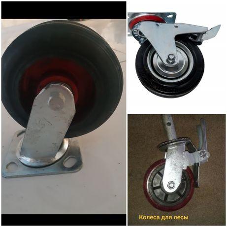 колеса для тележки с тормозом