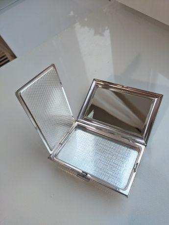 Cutie metalica cutiuta colectie pudriera antichitati  vintage oglinda