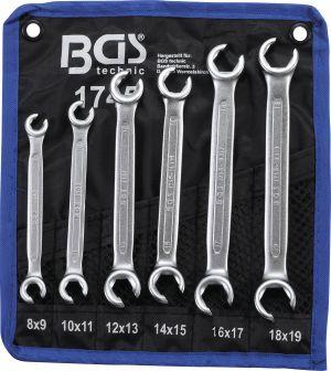 К-т ключове срязани за спирачни тръби (ключ рязана звезда) 8-19мм BGS