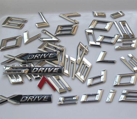 (toate combinatiile) Cifre Litere Emblema Chrom Portbagaj BMW 320 520