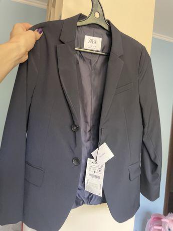 новый классический пиджак Zara на 10 лет 140 см