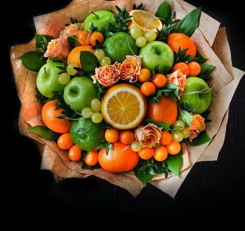 Подарочный букет из фруктов.Фруктовый букет.