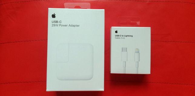 Fast Charger ORIGINAL Apple 29W + Cablu USB-C to Lightning iPad Pro