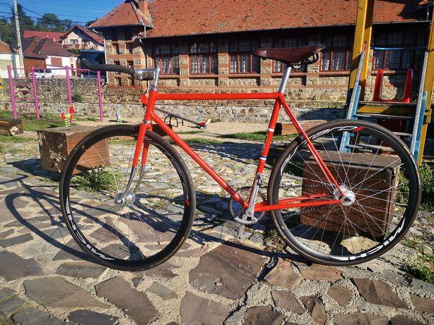 Bicicleta fixie de pista anii 50 Oscar Egg Reynolds 531 Campagnolo