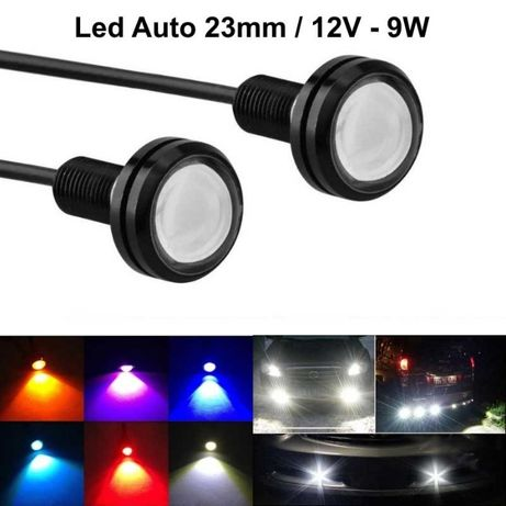LED auto 23MM / 12V - 9W , 2 BUC/SET , DIVERSE CULORI