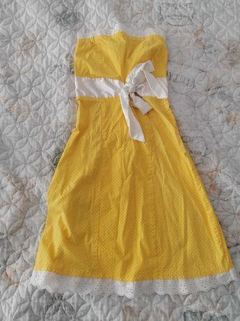 Жълта лятна рокличка