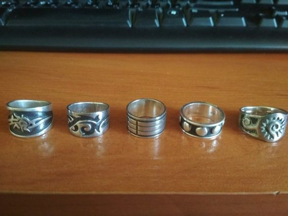 Пръстени от сребро, проба 925