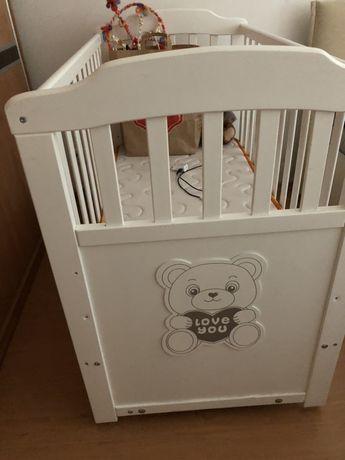 Бебешко легло+матрак Pierre Cardin