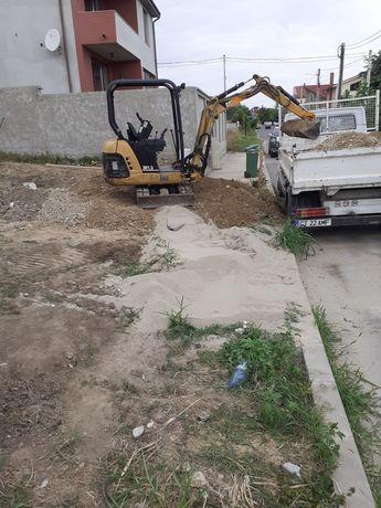 Transport moloz, sapaturi cu miniexcavator: canalizari,fose,fundații