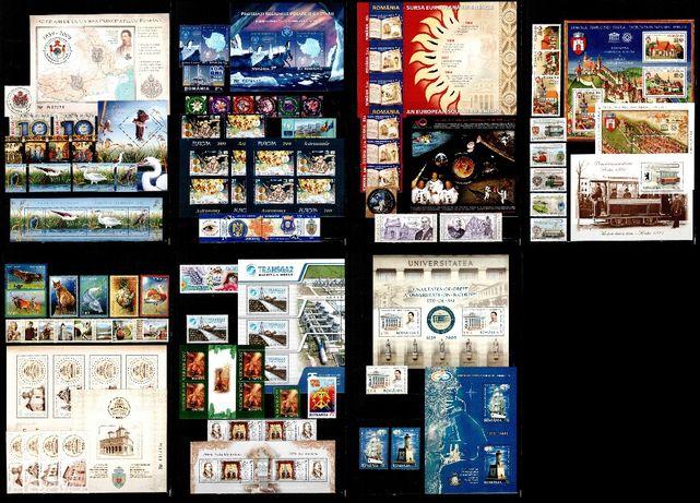 Timbre Romania 2009 - AN COMPLET!!! 65 timbre + 18 blocuri, MNH!