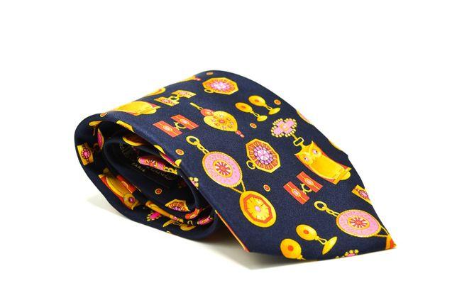 Cravata barbati Leonard Paris Neagra cu Print Bufnite 100% Matase CR17