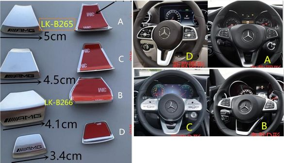 Емблема AMG за волан на Мерцедес Mercedes