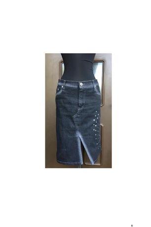 MET Superba Fusta Jeans Conica Stil Desigual Editie Limitata Italia