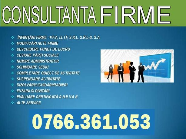 INFIINTARE FIRMA SRL - pentru fonduri europene