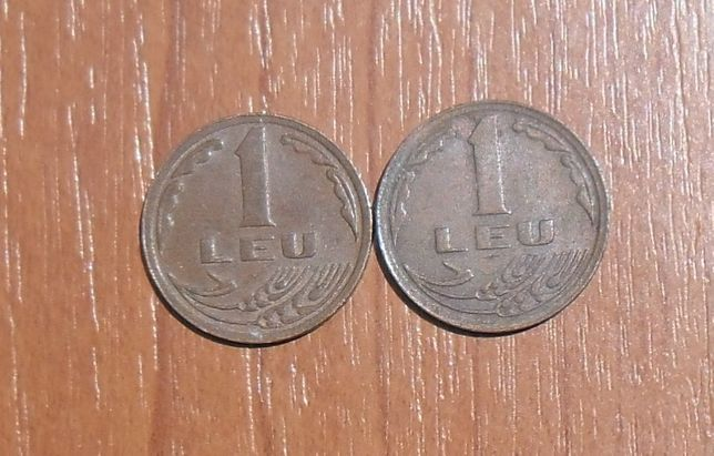 Vând lot 2 monede 1 leu 1992