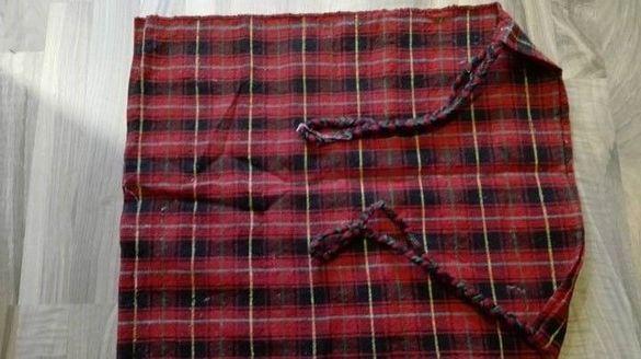 Стара ръчно тъкана вълнена торба