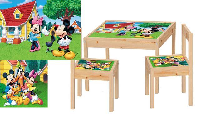 Masute + 2 scaunele cu personaje animate