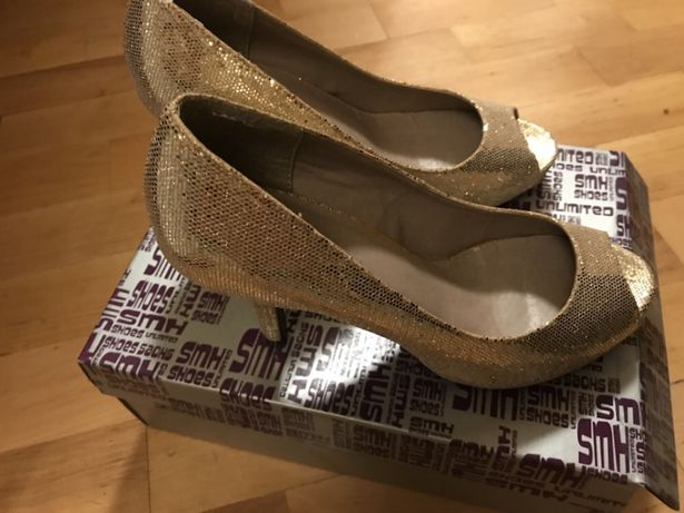 Pantofi seara, aurii, 37