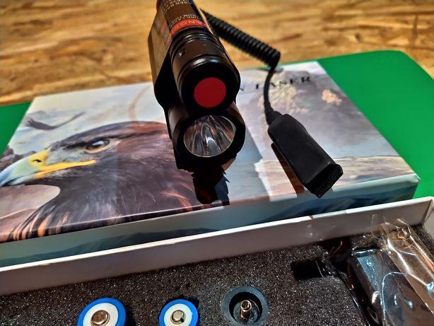 Lanterna Laser cu Sina Led Cree Acumulator arma vanatoare airsoft Nou