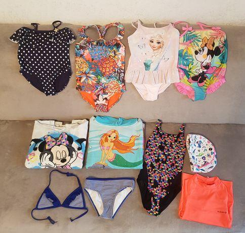 Costume de baie fetite/casca piscina/prosoape fetite/tricou UV