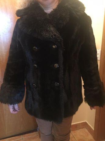 haina scurta din blana artificiala brun, marimea 50