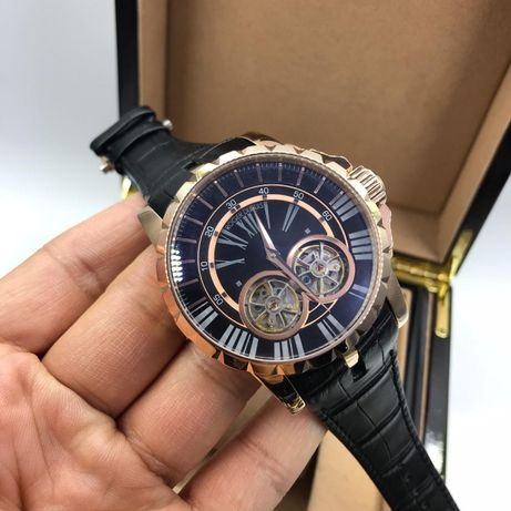 Roger Dubuis Excalibur Mens 45mm Gold Automatic TUrbillon