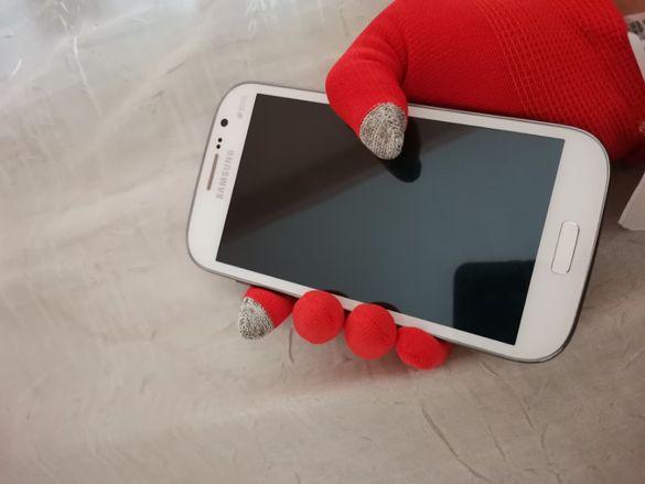 Червени ръкавици с touch сензор