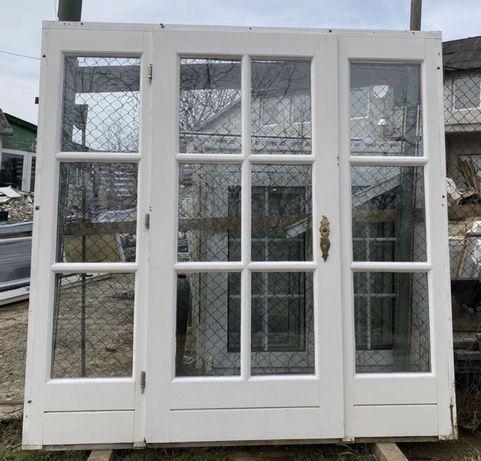 Usa casa vila firma intrare lemn geam termopan H 216 x L 218