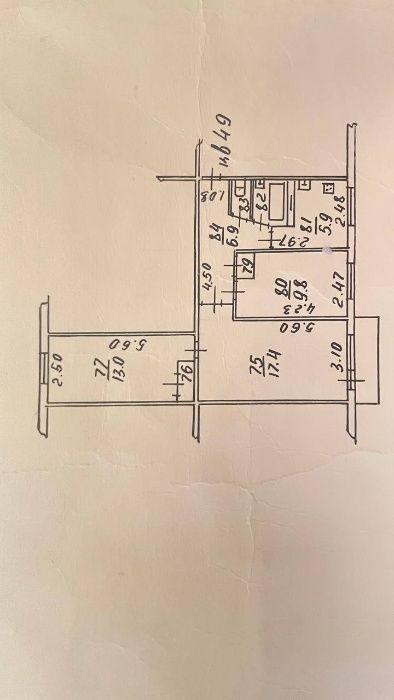 3-комнатная квартира, 58.6 м², 3/4 этаж, мкр Коктем-3 3 — Бухар жирау Алматы - изображение 1