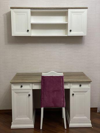 Продам письменный стол, навесную полку и стул, производство Турция.