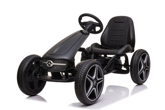 Masinuta GO Kart cu pedale pentru copii de la Mercedes #Negru