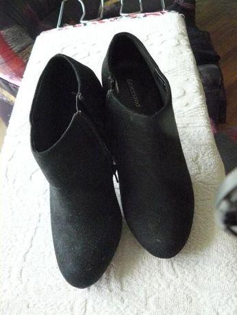 Боти черни велур №36
