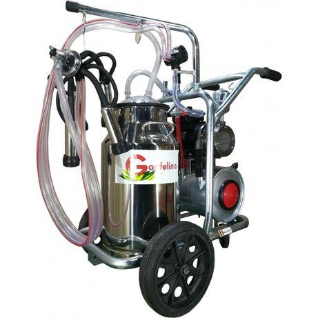 MULGATOARE VACI,Aparat de muls Gardelina 40L INOX cu tanc de vacuum
